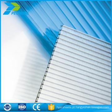 Certificado ISO doublewall lowes folha de espessura de coberturas de policarbonato