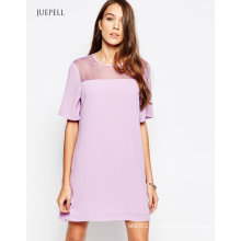 Shift Women Dress avec dos ouvert