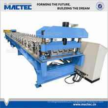 Automatic trapezoidal roof sheet roll forming machine