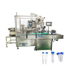 Customized automatic 10ml 15ml blood collection tube test tube filling capping and labeling machine