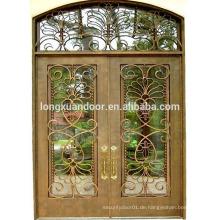 Letzter Preis doppelte enry Eisen Tür, schmiedeeisernen Tür Designs