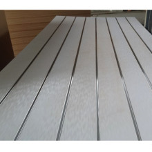 Melamine Slatwall with Aluminum Insert