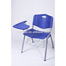training student chair with writting board plastic chair metal base chair