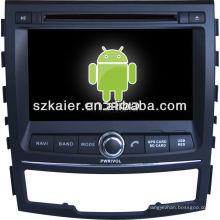 leitor de dvd do carro para o sistema Android Ssangyong Korando
