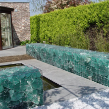 Popular PVC coated  welded mesh gabions 1x1x2 boxes weaving gabion box edge