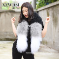 Women Stitching Style Fur Scarf For Winter Warm