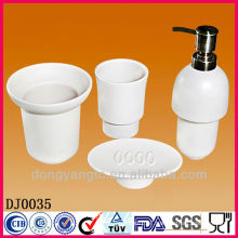 Customize logo ceramic bath accessories , bathroom accessories set