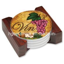 Ceramic Coaster, Round Ceramic Coaster