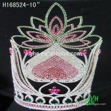 Corona del Rhinestone de los nuevos diseños, tiara de la joyería de la manera