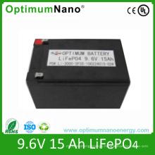 LiFePO4 Battery 9V 15ah for LED Light and UPS