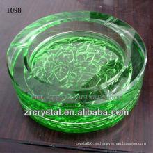 Cenicero de cristal redondo verde K9