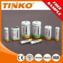 Batería NI-MH recargable 1800MAH NI-MH de tamaño AA