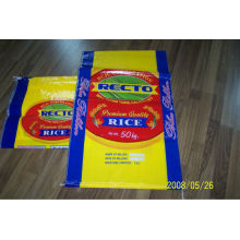 50kg pp sacos de arroz tecidos