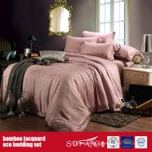 Ensemble de linge de lit Jacquard en fibre de bambou Linge de lit en bambou