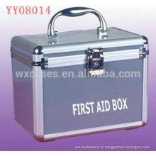vente chaude boîte médicale en aluminium avec différents styles