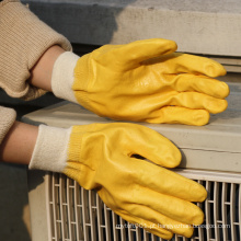Luva protetora de nitrilo amarela de segurança luva NMSAFETY