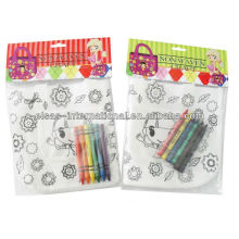 DIY PP non woven coloring with crayon craft painting bag