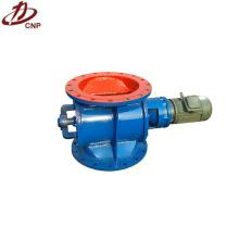 Rotary airlock valve for unloading bulk material