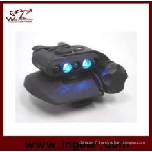 Airsoft sécurité casque casque léger de LED lumière LED bleues 3 intensités