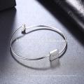 2017 fabricante de prata pulseira AMOR quadrado com coração
