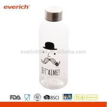 Пользовательская бутылка с водой из бутылки BPA с металлической крышкой