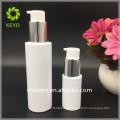 cosmetic packing 30ml 120ml white round plastic pump bottle PET bottle for eye gel