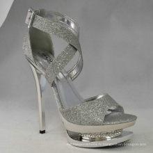 2016 nouvelle arrivée de mode à talons hauts dames sexy sandales (HCY03-044)