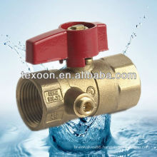 brass thread gas ball valves with waster (female thread)
