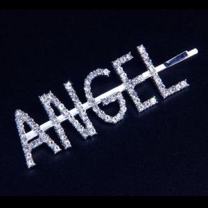 "Grampos de cabelo de moda letra ""anjo"""