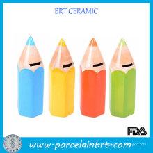 Unique School Student Gifts Colored Pencils Ceramic Money Boxes