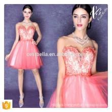 Verano estilo suelta Casual vestido de encaje Nuevo Diseño Sexy Rosa fuera de hombro dulce vestido de mini