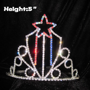 5in Height Crystal Star Pageant Crowns