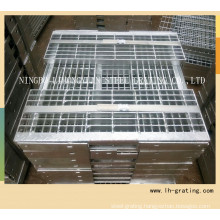 Hot DIP Galvanizing Steel Stair Tread with Nosing