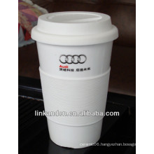 ceramic mug silicone sleeve/ceramic travel mug/promotional mug