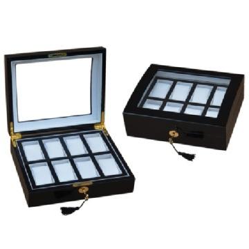 Boîte de montre en bois pour 8 montres