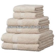 Venta caliente de diferentes colores disponibles al por mayor 100% algodón toalla de baño conjunto