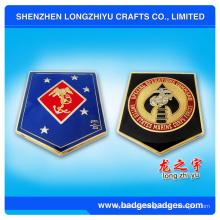 Moneda suave promocional del metal del esmalte del bordado con calidad estupenda