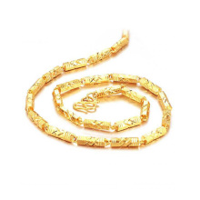 Longo e fino de ouro banhado a corrente colares, colar de ouro 18k jóias