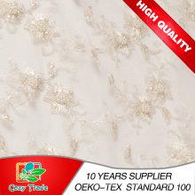 Tela del bordado para el vestido de boda, banquete, perla hecha a mano