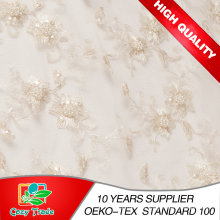 Embroidery Fabric for Wedding Dress, Banquet, Handcrafted Bead