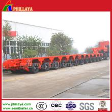 Grande remorque modulaire lourde de transport de machine