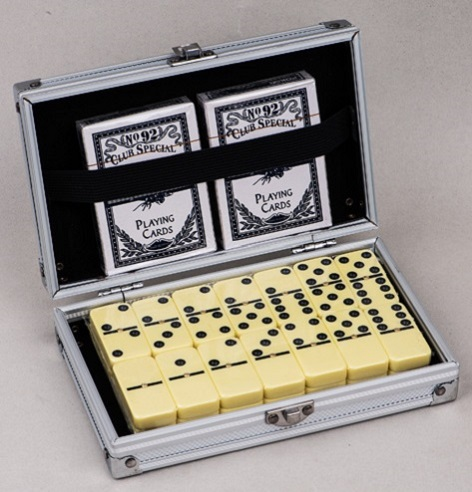 Aluminum Box Dominoes Game Set