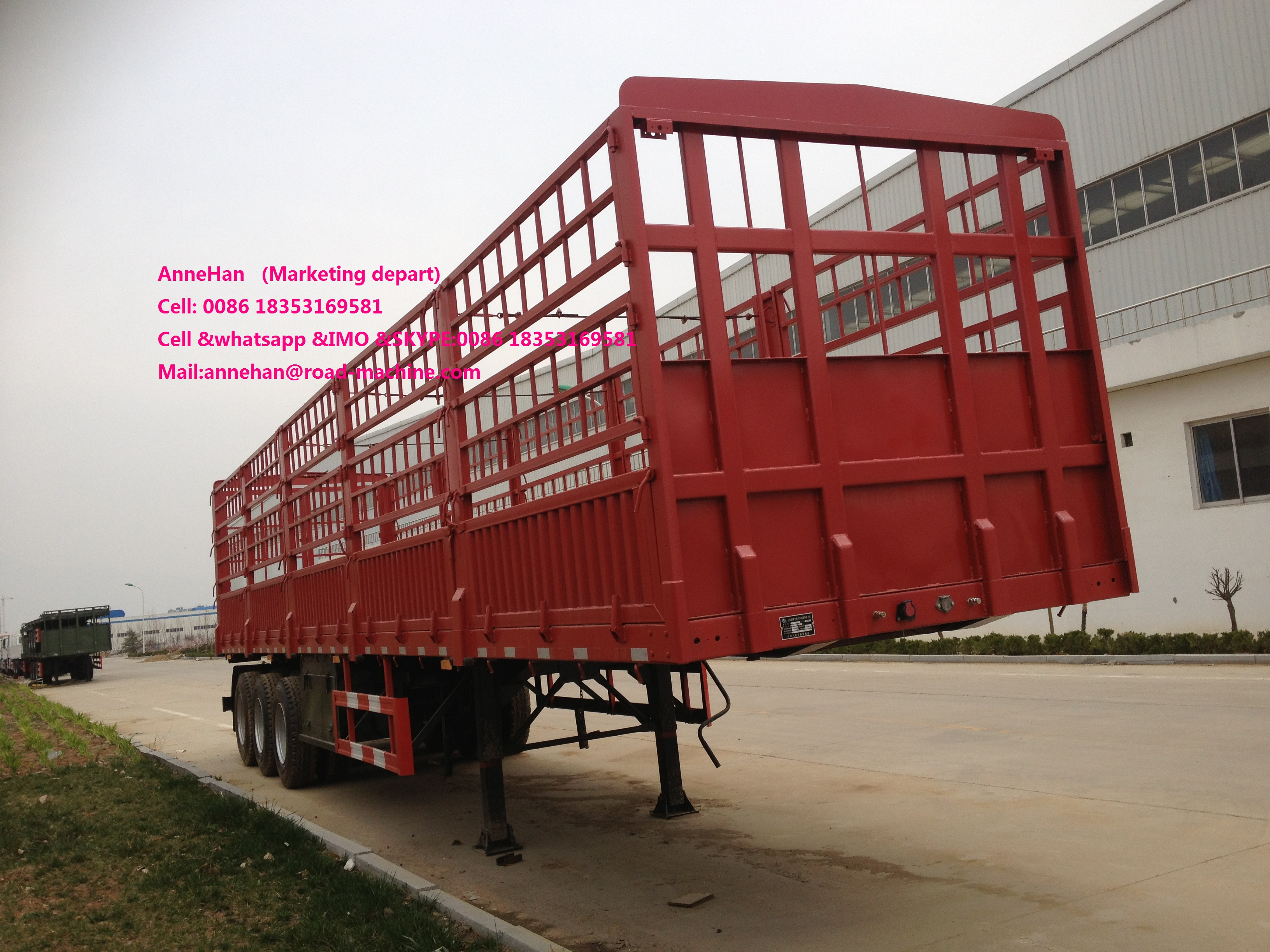 red semi trailer (4)