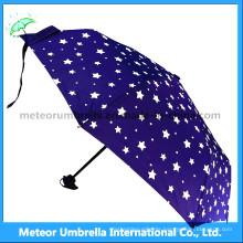Blue Star Sky Umbrella/Gift 3 Folds Discount Umbrella