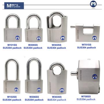 MOK lock W71/60WF Stainless Steel wrapped shackle hardened solid steel padlock