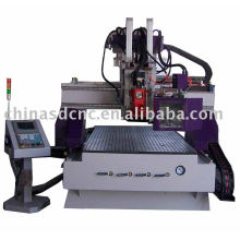 CNC Router Machine with auto tool changer/8pieces/LNC system