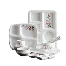 Top ranking products melamine tableware party set tableware sushi plate sauce bowl