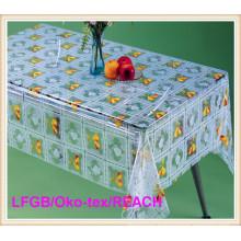 High Quality PVC Printed Transparent Table Cloths on Rolls