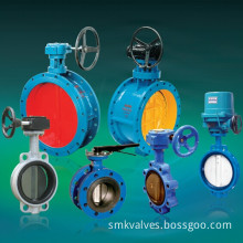The Double Eccentric Structure Soft Seal Butterfly Valve