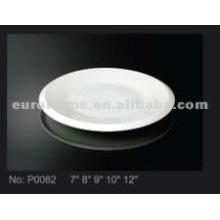 Cerâmica prato pequeno prato e prato para o hotel, restaurante e uso diário P0082